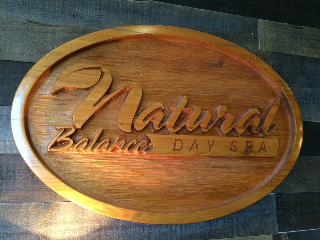 Natural Balance Day Spa sign